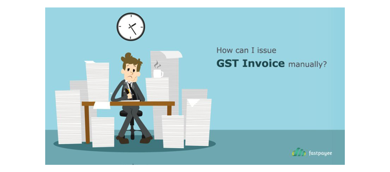 How can I issue GST invoices manually?