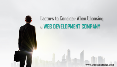 Factors to Consider When Choosing A Web Development Company