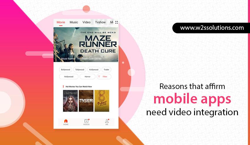 videos in mobile app