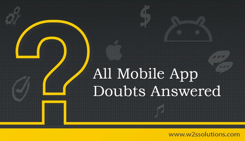 mobile app doubts